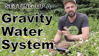 Setting up gravity fed water system for regenerative agriculture