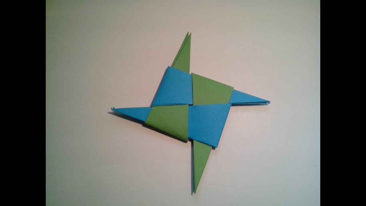 Como hacer una estrella ninja de papel arma de origami - Origami de una estrella ...