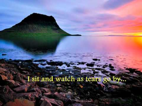 As tears Go by with lyrics