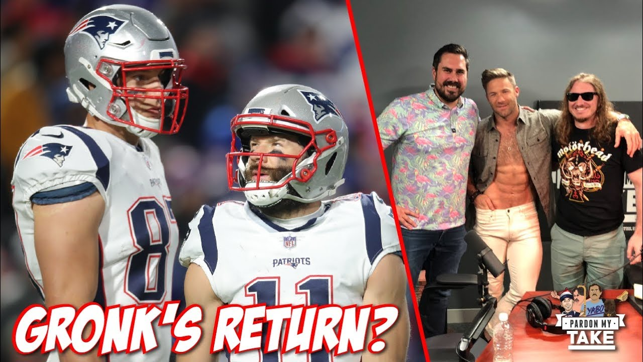 What Are The Chances Gronk Will Come Back Julian Edelman On Pardon My Take Youtube