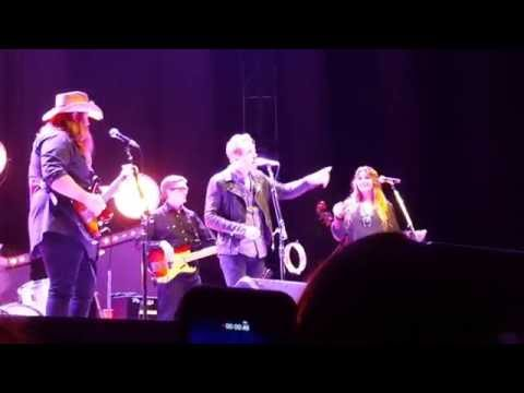 Chris Stapleton with his wife, Morgane and...