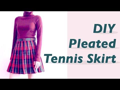 DIY Pleated Tennis Skirt / 服作り / 옷만들기 / 手作教學 / Costura ...