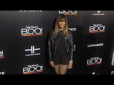 """Tamar Braxton """"Boo! A Madea Halloween"""" Premiere Black Carpet"""