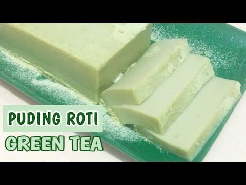 Resep Puding Roti Tawar Green Tea   Lembut seperti Ice Cream