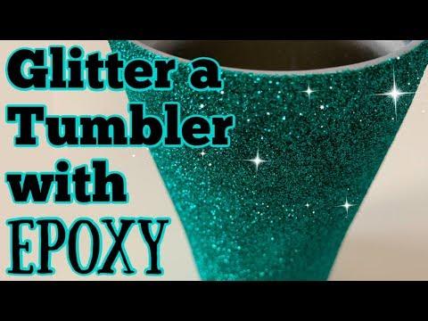 How to Glitter a Tumbler using Epoxy Method   DIY Epoxy Tumbler Series- Start to Finish   Episode 2