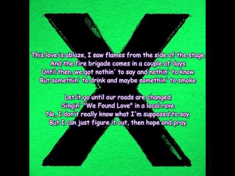 Ed Sheeran - Sing (Lyrics)