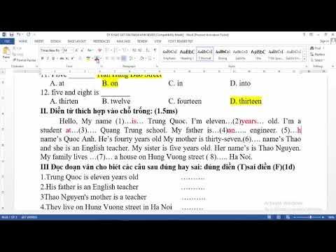 Giải đề thi Khảo sát vào lớp 6 môn Tiếng Anh (Đề số 21)
