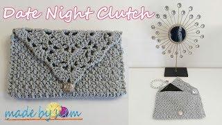 1 Skein Project - Date Night Clutch - Crochet - Tutorial - English