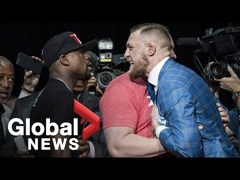 Thumbnail: Floyd Mayweather vs. Conor McGregor Toronto press conference showdown