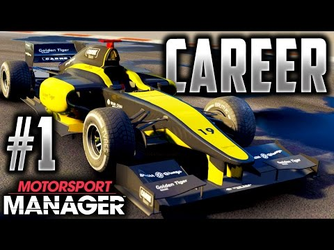 Motorsport Manager PC FULL GAME Career Gameplay Part 1 - ROAD TO F1 BEGINS!