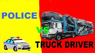 Police Chase Truck Driver Hd