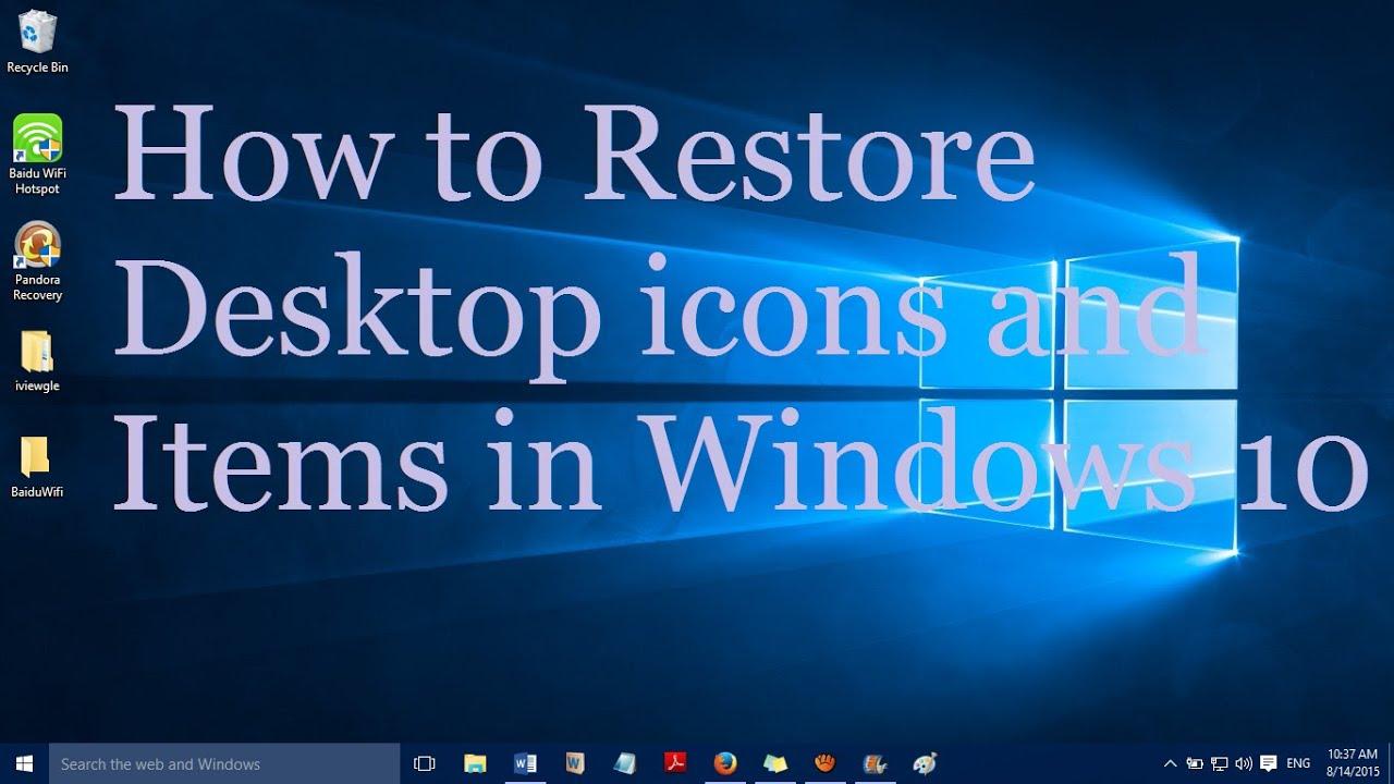 how to restore the desktop icon windows 7