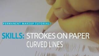 Permanent makeup tutorial: Practice on paper, exercise #2/ Урок татуажа на бумаге №2