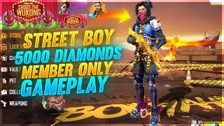 Garena Free Fire Live - Member Only Street Boy Gameplay 5000 Diamonds