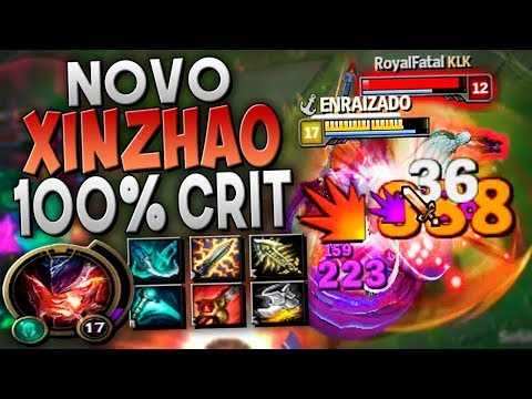 BUILD 100% CRÍTICO É OUTRA PEGADA SOLEI BARÃO FÁCIL - XIN ZHAO JUNGLE GAMEPLAY - Festinha do Rodil