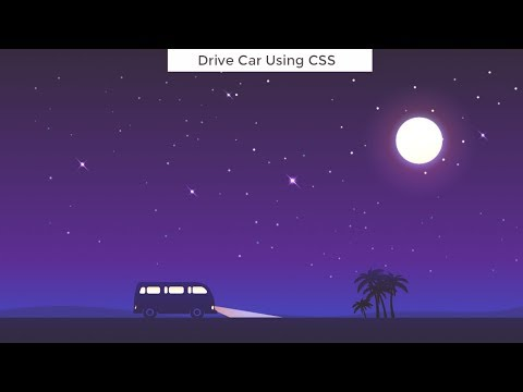 Drive Car Using CSS - Moving Car CSS Animation Using HTML/CSS/JavaScript