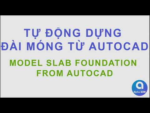 Alpha BIM   Auto Modeling Slab Foundation from AutoCAD   Plugin for Revit