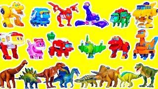 고고다이노 공룡 미니 장난감 전제품 플레오 스피노 케루 핑 비키 애니멀다이노 공룡장난감 비교 놀이