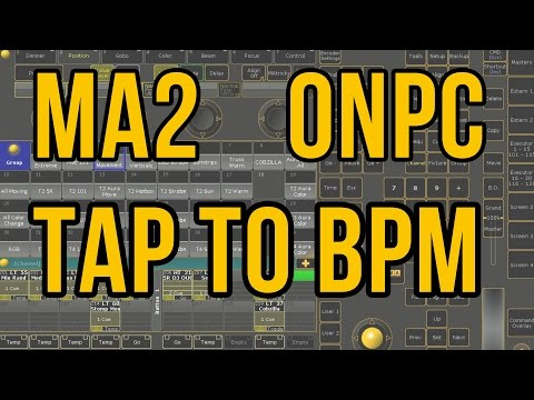 MA2 onPC Tutorial: Custom Tap-to-BPM button