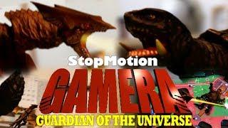 StopMotion GAMERA  ガメラvsギャオス 世界初!コマ撮り空中戦フィギュアバトル!