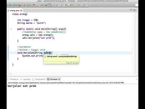 24 Belajar Java Parameter pada metode - YouTube