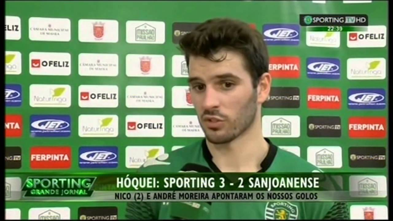 Hoquei Patins :: 25J :: Sporting - 3 x Sanjoanense - 2 de 2014/2015 - Entrevista equipa técnica