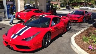 Ferrari 458 Speciale with test pipes and F.I. exhaust