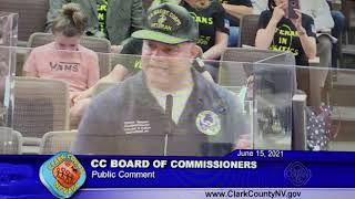 Steve Sanson speaks before Clark County Commission on lack of accountability in Family Court System