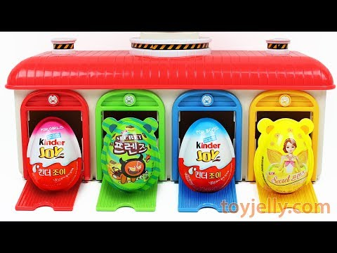 Learn Colors Tayo the Little Bus Station Super Kinder Joy Su