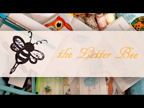 The Letter Bee for Stationery lovers, journallers and snail mailers