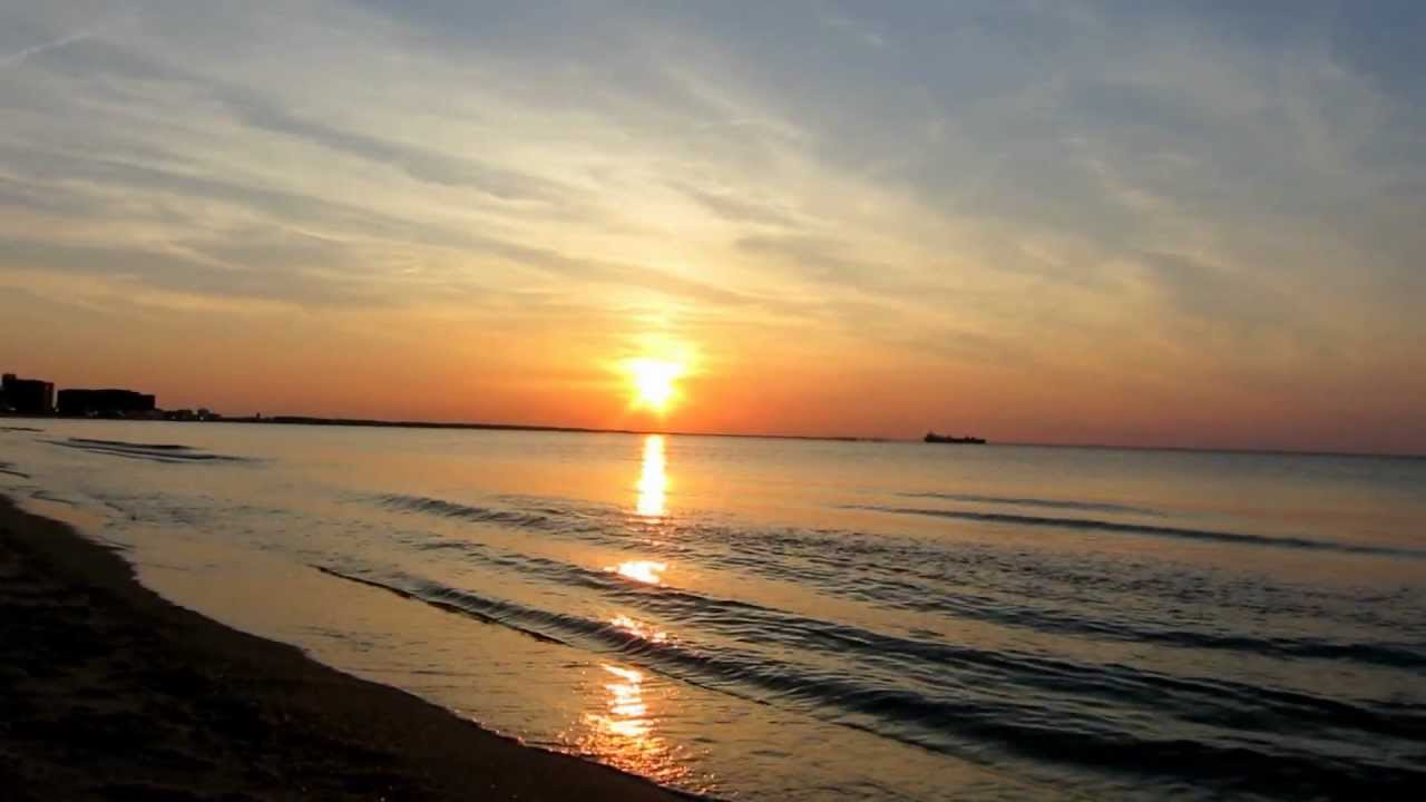 Sunset At Sea And Wave Sounds Hd First Landing State Park Virginia Beach