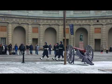Changing of the Guard in Stockholm, Sweden