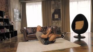 Диагональные скручивания на полу | Школа домашнего фитнеса #3