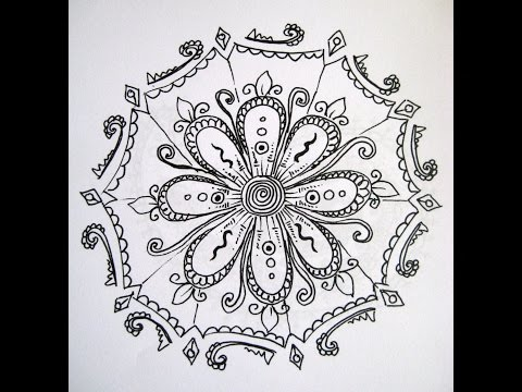 How to draw a simple paisley pattern