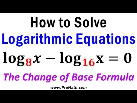 How to Solve Logarithmic Equations with Different Bases - The Change of Base Formula