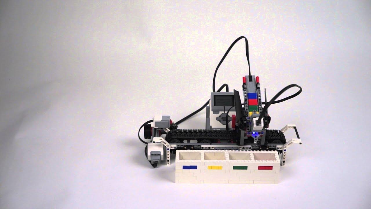 Lego mindstorms EV3 color sorter V2.0 - YouTube