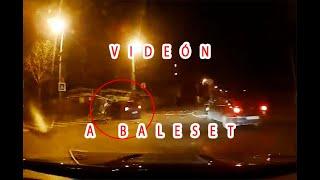 Videón egy kőbányai baleset. A STOP-nál jobb lett volna szabályosan megállni