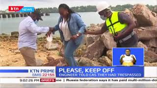 Drama as Chinese Engineer stops Government delegation led by Wavinya Ndeti in Mombasa