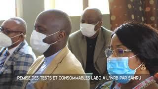 Remise symbolique des Tests rapides COVID-19 et consommables de Laboratoire à l'INRB