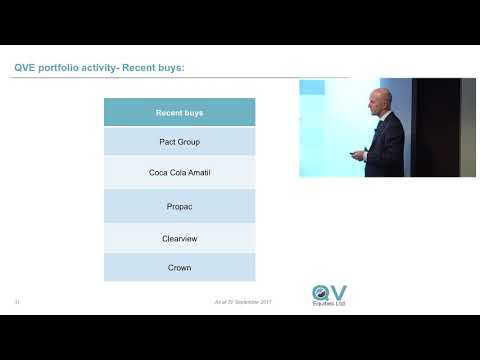 QVE Investor Update -  1 NOV 2017 - Part 2: Positioning in a low growth economy