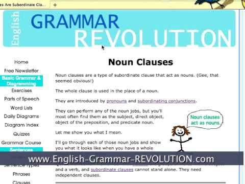 noun clause explanation