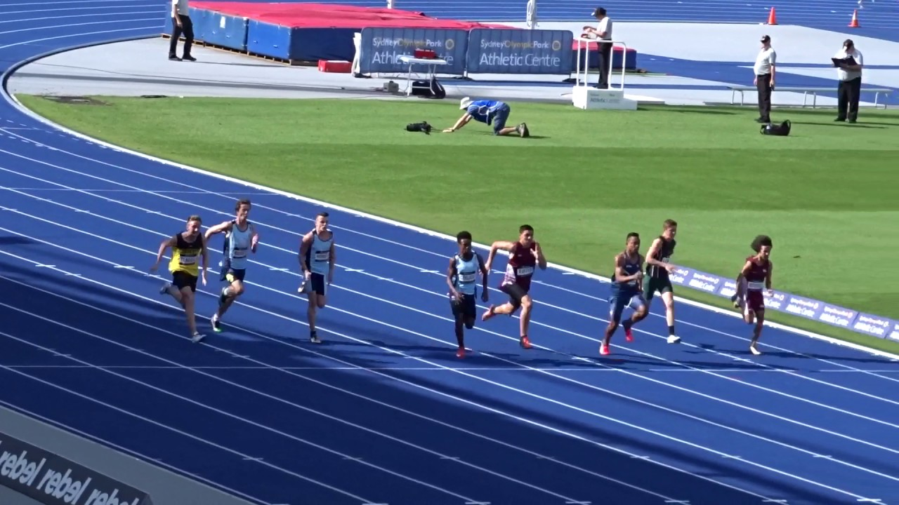 U 15yrs 100m Men Final Australian Athletics Championships Olympic Park Sydney 1 04 2017