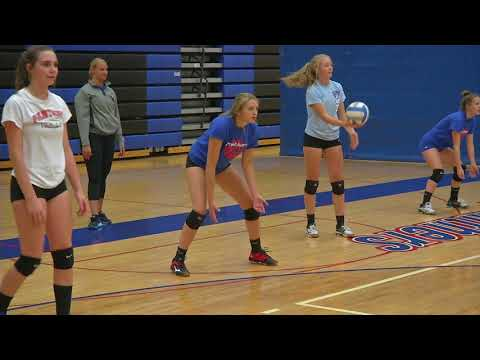 """Spring Lake Park Volleyball """"Coach & Captains"""" 2017"""