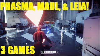 Star Wars Battlefront 2 - Captain Phasma MVP! HUGE Darth Maul HvsV Killstreak! (3 games)