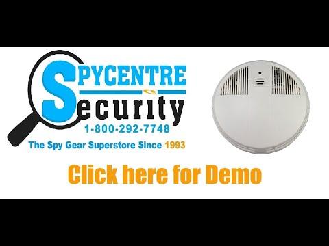 Wifi Smoke Detector Hidden Camera Down View Review Youtube
