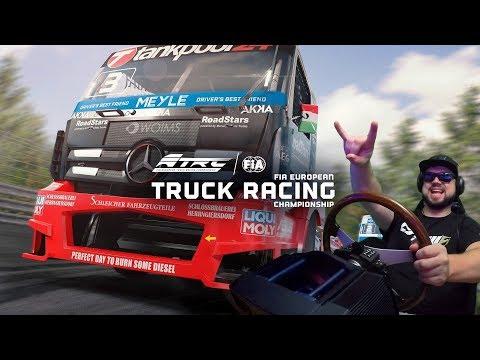 FIA European Truck Racing Championship - первые впечатления от симулятора гоночных фур