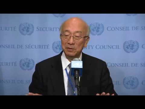 Koro Bessho (Japan) on non-proliferation and DPRK - Security Council Stakeout (23 May 2017)