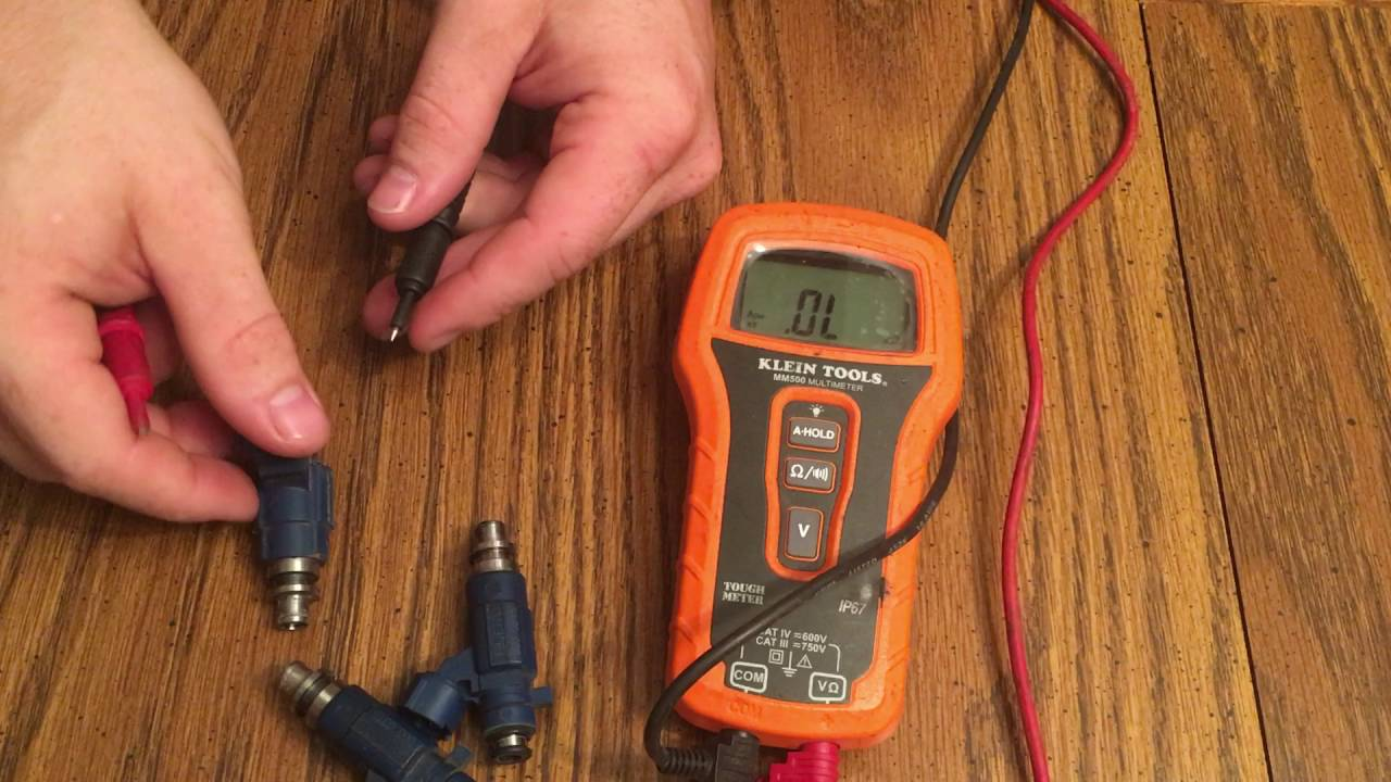 Testing Resistance of Fuel Injectors with a Multimeter