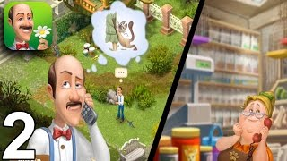 GARDENSCAPES NEW ACRES Walkthrough Gameplay Part 2 - Day 2 (iOS Android)