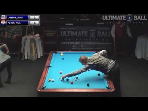 Chris Lawson v Ivica Putnik   Ultimate 10 Ball Championships 2013